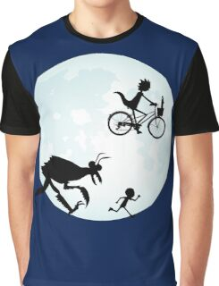 E.T. Rick and Morty Graphic T-Shirt