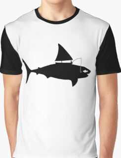 A fin day for fishing: BLACK Graphic T-Shirt