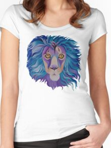 """Lion"" Women's Fitted Scoop T-Shirt"