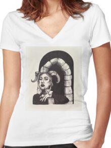 Stubborn  Women's Fitted V-Neck T-Shirt