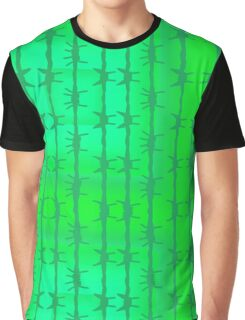 Green Cactus Spike Needles Desert Plants Botanical Cacti Color Botany Bright Graphic T-Shirt