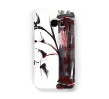 Crimson in the Mist - India ink bamboo wash painting Samsung Galaxy Case/Skin