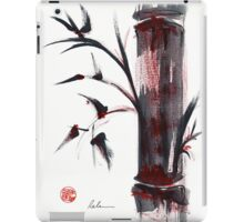 Crimson in the Mist - India ink bamboo wash painting iPad Case/Skin