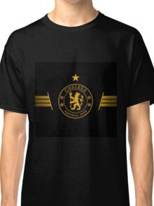 Gold and Black Chelsea Logo Classic T-Shirt