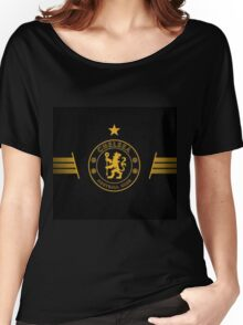 Gold and Black Chelsea Logo Women's Relaxed Fit T-Shirt