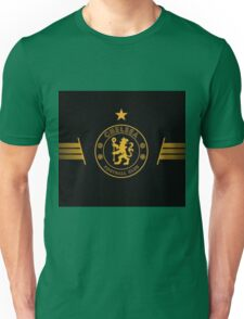 Gold and Black Chelsea Logo Unisex T-Shirt
