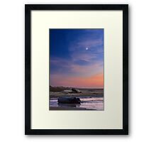 Florence Beach Twilight Moon Framed Print