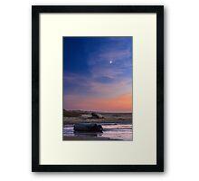 Florence Beach Twilight Moon Framed Print
