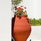 Amphora Geraniums by phil decocco