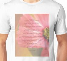 After A While Poem with Flower Background Unisex T-Shirt