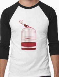 singing bird Men's Baseball ¾ T-Shirt