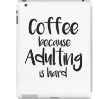 Cute and funny coffee quote iPad Case/Skin