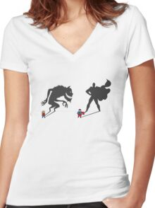 Saving the day! Women's Fitted V-Neck T-Shirt