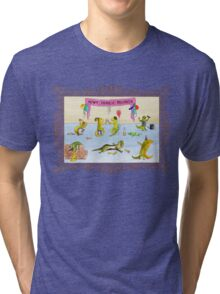 Pissed as a Newt (on light) Tri-blend T-Shirt