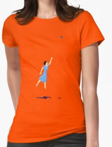 Butterfly Girl Without String Womens Fitted T-Shirt