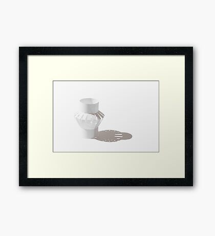Paper Shadows Framed Print