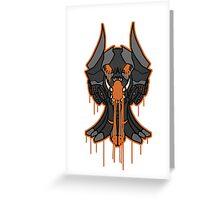 LAVA DEVIL  Greeting Card