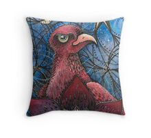 moon lit bird  Throw Pillow