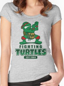 Fighting Turtles Women's Fitted Scoop T-Shirt