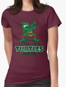 Fighting Turtles Womens Fitted T-Shirt