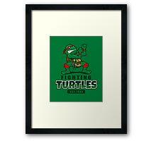 Fighting Turtles Framed Print