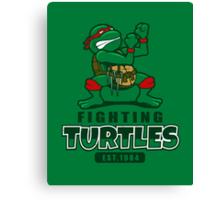 Fighting Turtles Canvas Print