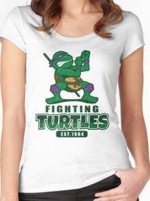 Fighting Turtles - Donatello Women's Fitted Scoop T-Shirt