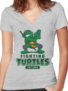 Fighting Turtles - Donatello Women's Fitted V-Neck T-Shirt