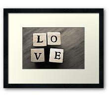 LOVE Wooden Letter Blocks Art  Framed Print