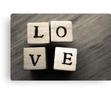 LOVE Wooden Letter Blocks Art  Canvas Print