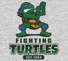 Fighting Turtles - Leonardo Baby Tee