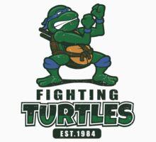 Fighting Turtles - Leonardo Baby Tee
