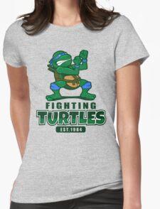 Fighting Turtles - Leonardo Womens Fitted T-Shirt