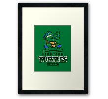 Fighting Turtles - Leonardo Framed Print
