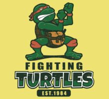 Fighting Turtles - Michelangelo Kids Tee