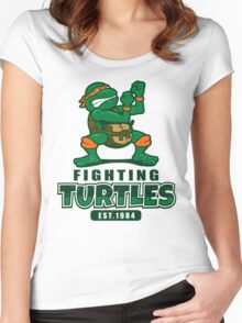 Fighting Turtles - Michelangelo Women's Fitted Scoop T-Shirt