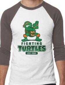 Fighting Turtles - Michelangelo Men's Baseball ¾ T-Shirt