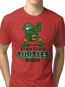 Fighting Turtles - Michelangelo Tri-blend T-Shirt