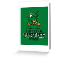 Fighting Turtles - Michelangelo Greeting Card