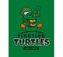 Fighting Turtles - Michelangelo Photographic Print