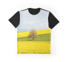 Tree in Yellow Field Graphic T-Shirt