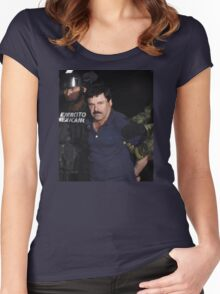 EL CHAPO | HANDCUFFED Women's Fitted Scoop T-Shirt