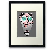 Jigglypuff Opened a Can of Whoop-Ass! It's Super Effective! Framed Print
