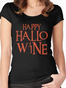 Happy Halloween Tshirt Women's Fitted Scoop T-Shirt