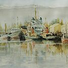 Seaport As It Was by M Sluce by Wendy Dyer