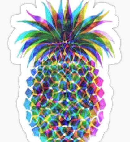 colorful pinapple  Sticker