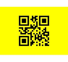 Smiley ☺ Happy Face -- QR Code Photographic Print