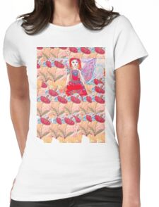 Poppy Fairy  Womens Fitted T-Shirt