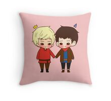 A King and His Sorcerer / A Sorcerer and His King Throw Pillow