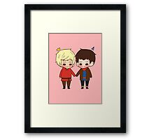 A King and His Sorcerer / A Sorcerer and His King Framed Print